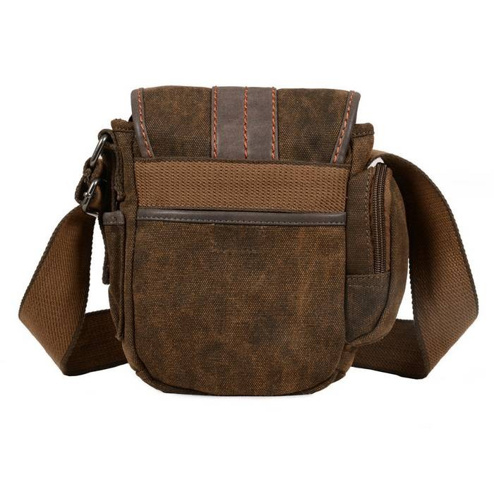Canvas side bag, khaki travel shoulder bag for women, mens ...