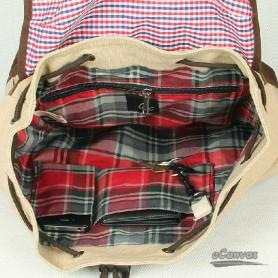 khaki unique backpack
