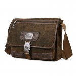 Mens canvas messenger bag, canvas messenger book bag, khaki messenger purse