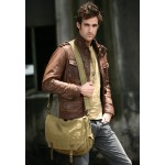 khaki Boys green messenger bag