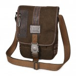 Mens bag, mens canvas messenger bag, khaki messenger school bag