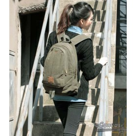 army green Women backpack