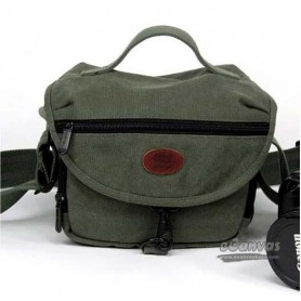Light green canvas photography bag, 500D 550D waterproof graphism