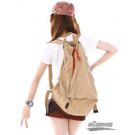 khaki Canvas backpack for girls