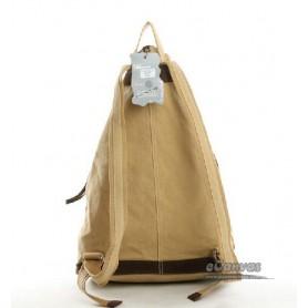 khaki book backpack