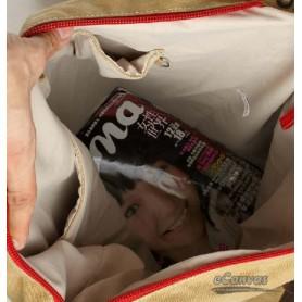 khaki Canvas backpack