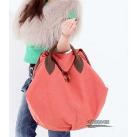 Tote bag canvas red