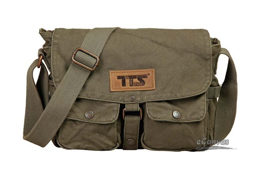 ... army green Canvas side bag ... 8d2ada3aeda5