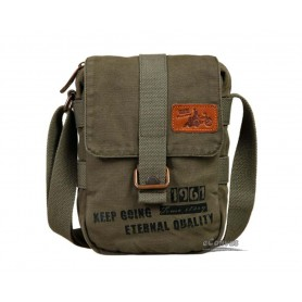 Canvas shoulder bag men
