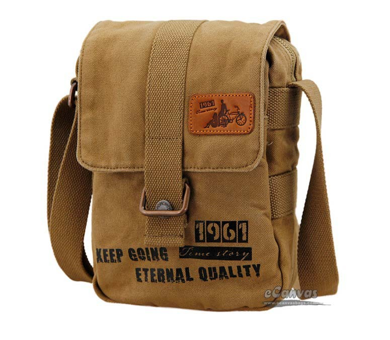 Canvas shoulder bag men, school messenger bag for girls, satchel ...