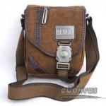 Mens satchel messenger bag, motorcycle messenger bag, khaki over shoulder bag