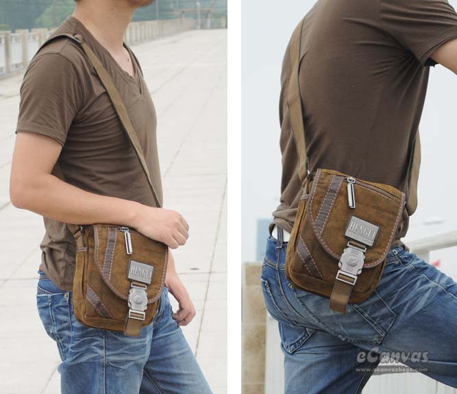 Mens satchel messenger bag, motorcycle messenger bag, khaki over ...