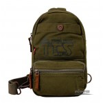 Canvas single strap bag, side back pack, shoulder backpack