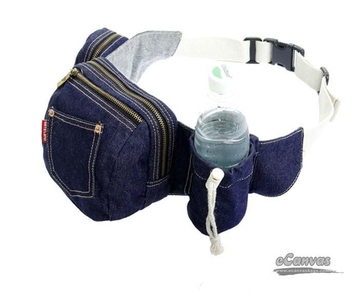 Denim Hip Bag Blue Hiking Pack Funny Fanny Pack E