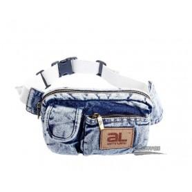 Denim hip bag belt, white hiking fanny pack, girls fanny pack