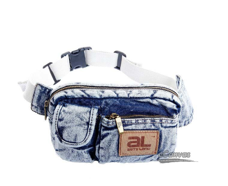 Denim Hip Bag Belt White Hiking Fanny Pack Girls Fanny