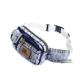 white hiking fanny pack