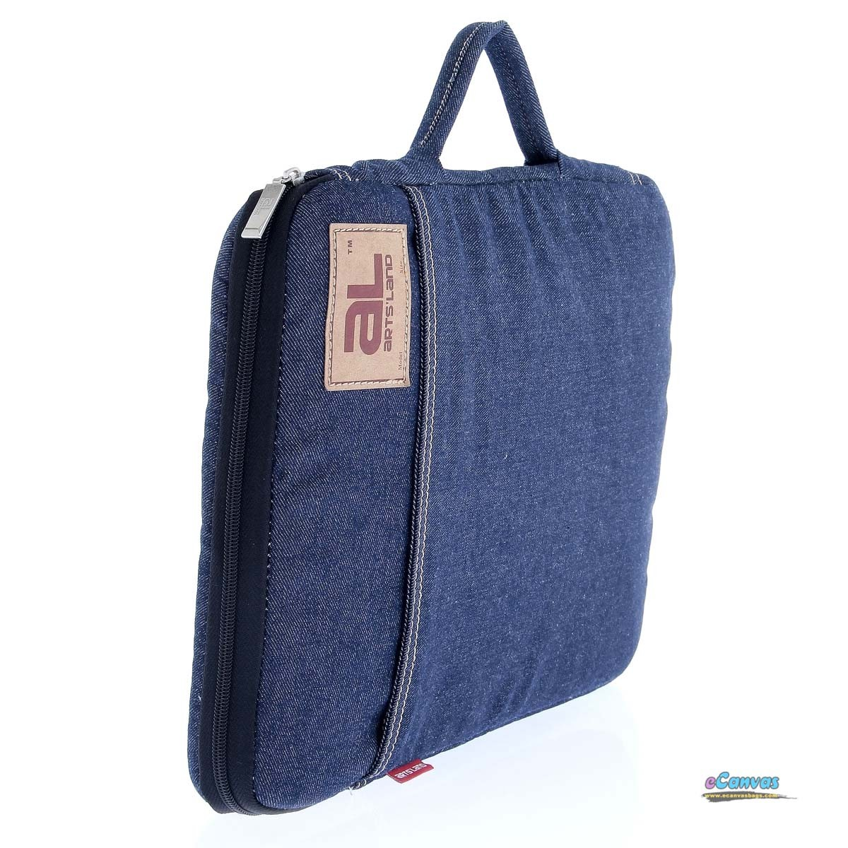 Jean purse, 14 inch laptop bag, blue Ipad bag - E-CanvasBags