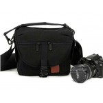 Black camera bag, 500D 550D D3000 D5000, DV bag, 1 camera 2 lens