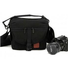 Black camera bag, 500D 550D D3000 D5000, DV bag, 1 camera 2 lens