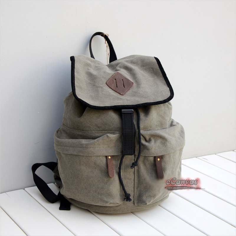 ... school backpack, army green girls backpack, khaki high end backpack
