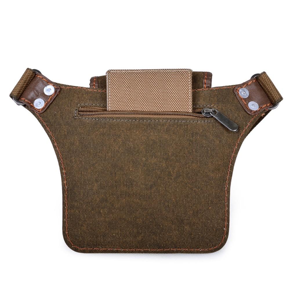 Small canvas tote bag, khaki belt bag, military waist pack ...