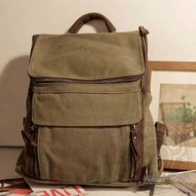 Personalized backpack, army green outdoor products backpack, beige quality backpack
