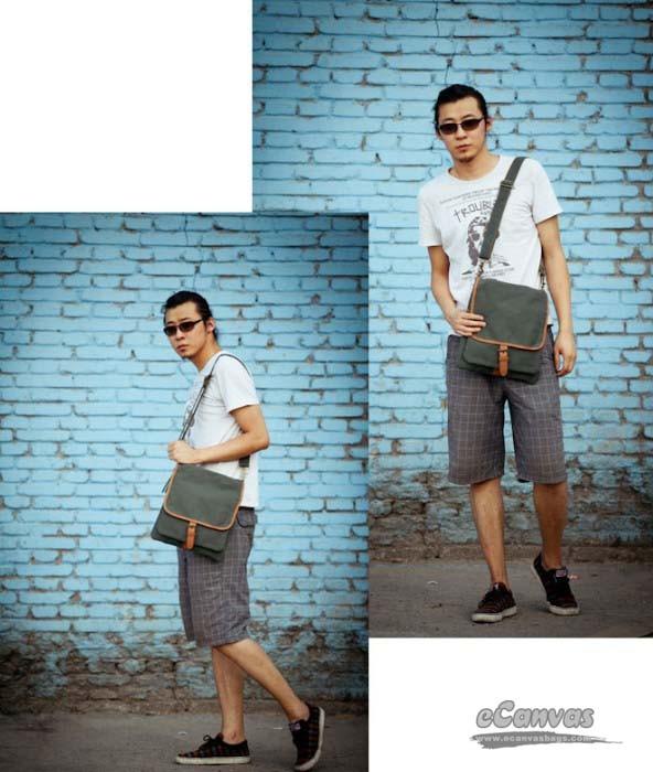 Canvas vertical case, canvas messenger bag men, sport tote bag - E ...