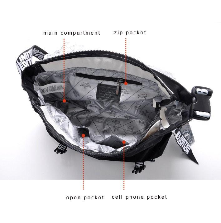 Black Canvas Across The Body Bag