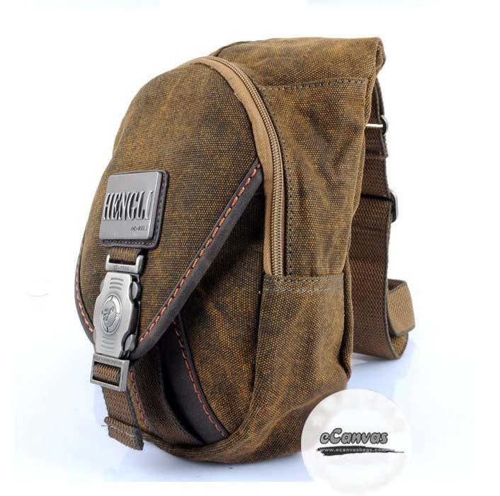 Chest bag, 1 strap backpack, khaki backpack single strap - E ...