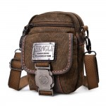 Canvas messenger bags for men, khaki waist pouch, waist purse