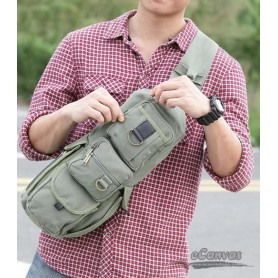 army green chest bag