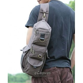 Multi pockets bag, army green chest bag, grey 1 strap backpack