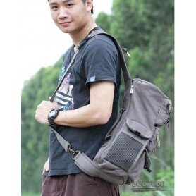 grey 1 strap backpack