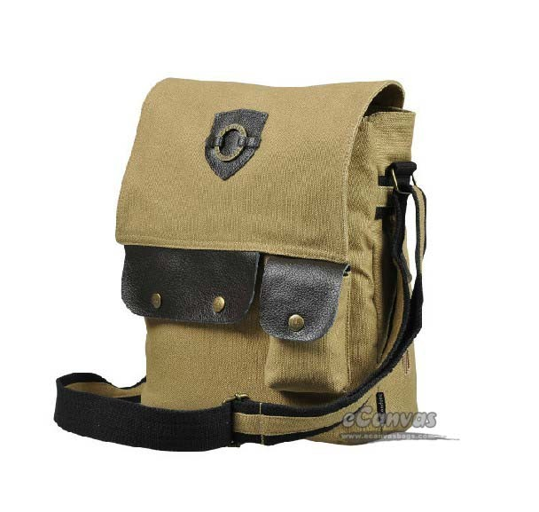Canvas shoulder bag men, small messenger bag - E-CanvasBags