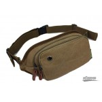 Canvas lumbar pack coffee