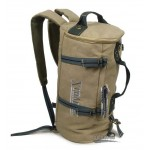 Casual messenger bag khaki, black back pack straps