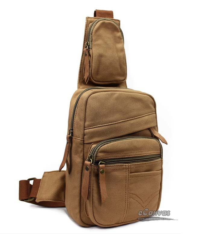 1dae277f62e Backpack one strap army green, khaki chest shoulder bag - E-CanvasBags