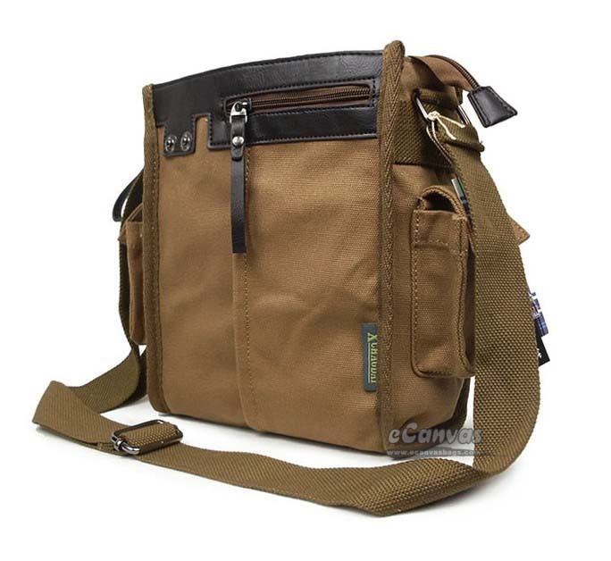 khaki canvas messenger bags for school