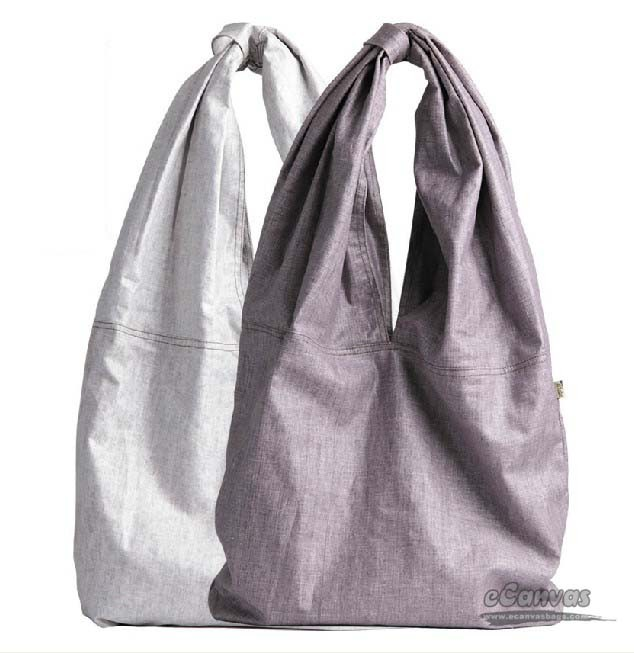 Large Hobo Purple Retro Tote Bag