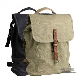 Rugged backpack coffee, black bucket bag, khaki slouchy backpack