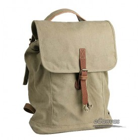 khaki slouchy backpack