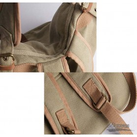 khaki bucket bag