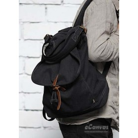 black slouchy backpack