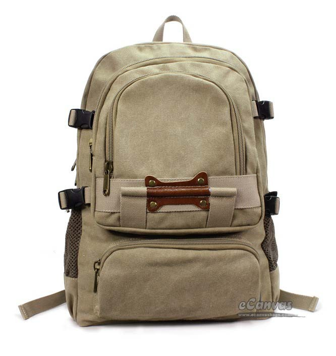 Canvas book bag khaki, black laptop bag 15, travel laptop bag - E ...