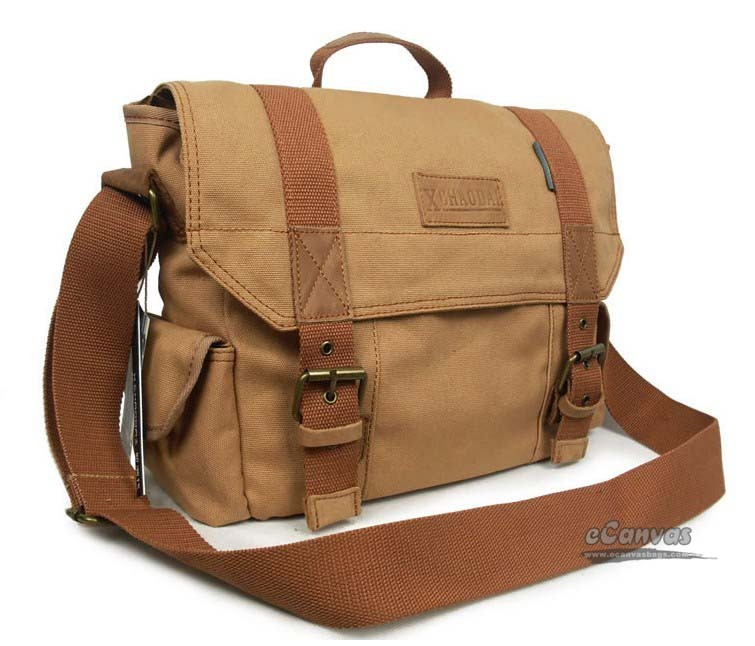 Brown messenger bag, black briefcase messenger bag - E-CanvasBags