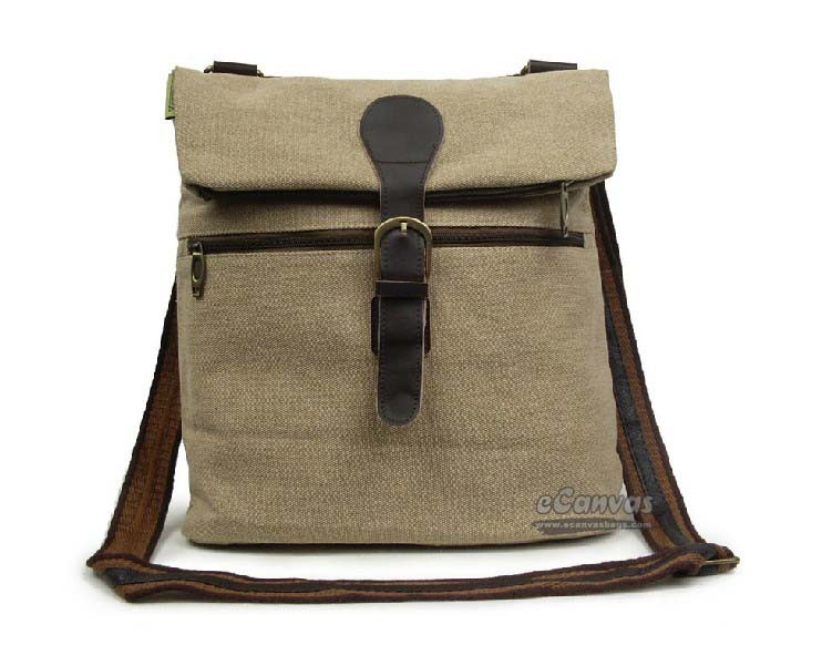 Shoulder Strap Backpack Black Beige Over The Shoulder