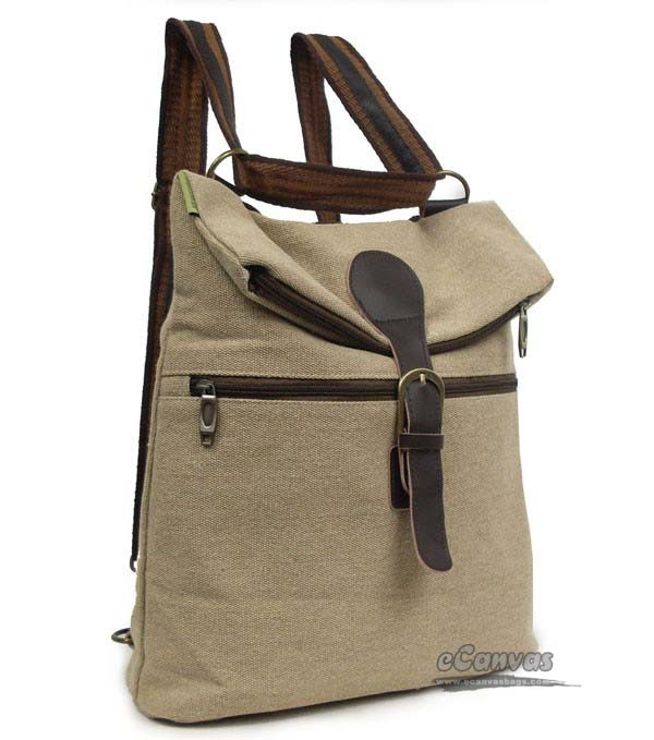 Beige Shoulder Strap Backpack
