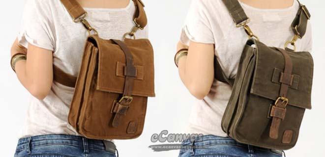 IPAD small waist pack khaki, army green messenger backpack - E ...