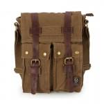 IPAD travel messenger bag khaki, army green vintage shoulder bag
